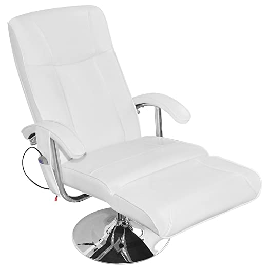 Good Anself Artificial Leather Electric TV Recliner Massage Chair White