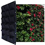 MEIWO 18 Pocket Hanging Vertical Garden Wall Planter For Yard Garden Home Decoration
