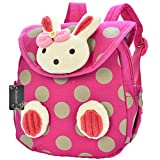 Donalworld Child Kid Cartoon Rabbit Backpack Schoolbag Shoulder Bag Pink