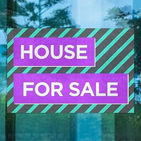 CGSignLab Modern Block Window Cling House for Sale 36x24