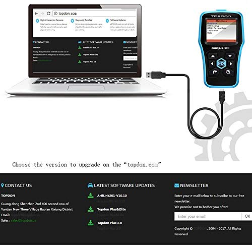 Topdon Car OBD2 Scanner, Plus Professional Car Diagnostic Scanner OBD2 Full Function with DTC Lookup and Free Update by TT TOPDON (Image #5)