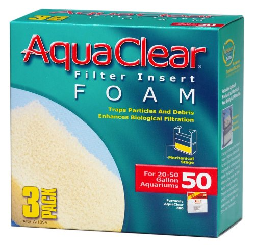 Aquaclear Foam Inserts, 3-Pack (6-Pack, 50-Gallon) ()
