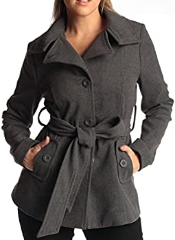 Alpine Swiss Bella Womens Belted Blazer Button Up Wool Coat
