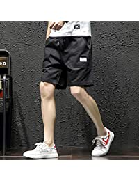 ZXHHL Cotton Five-Point Sports Shorts Tooling Beach Pants