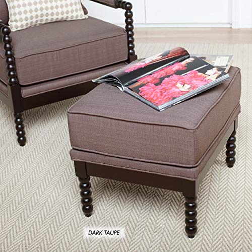 Studio Designs Home 72019 Colonnade Spindle Ottoman Dark Taupe