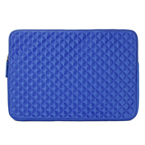 Laptop Sleeve, Evecase 11.6'' ~ 12.5'' Laptop/ Chromebook/ Ultrabook Notebook PC Diamond Foam Splash & Shock Resistant Neoprene Sleeve Case Travel Bag (Blue)