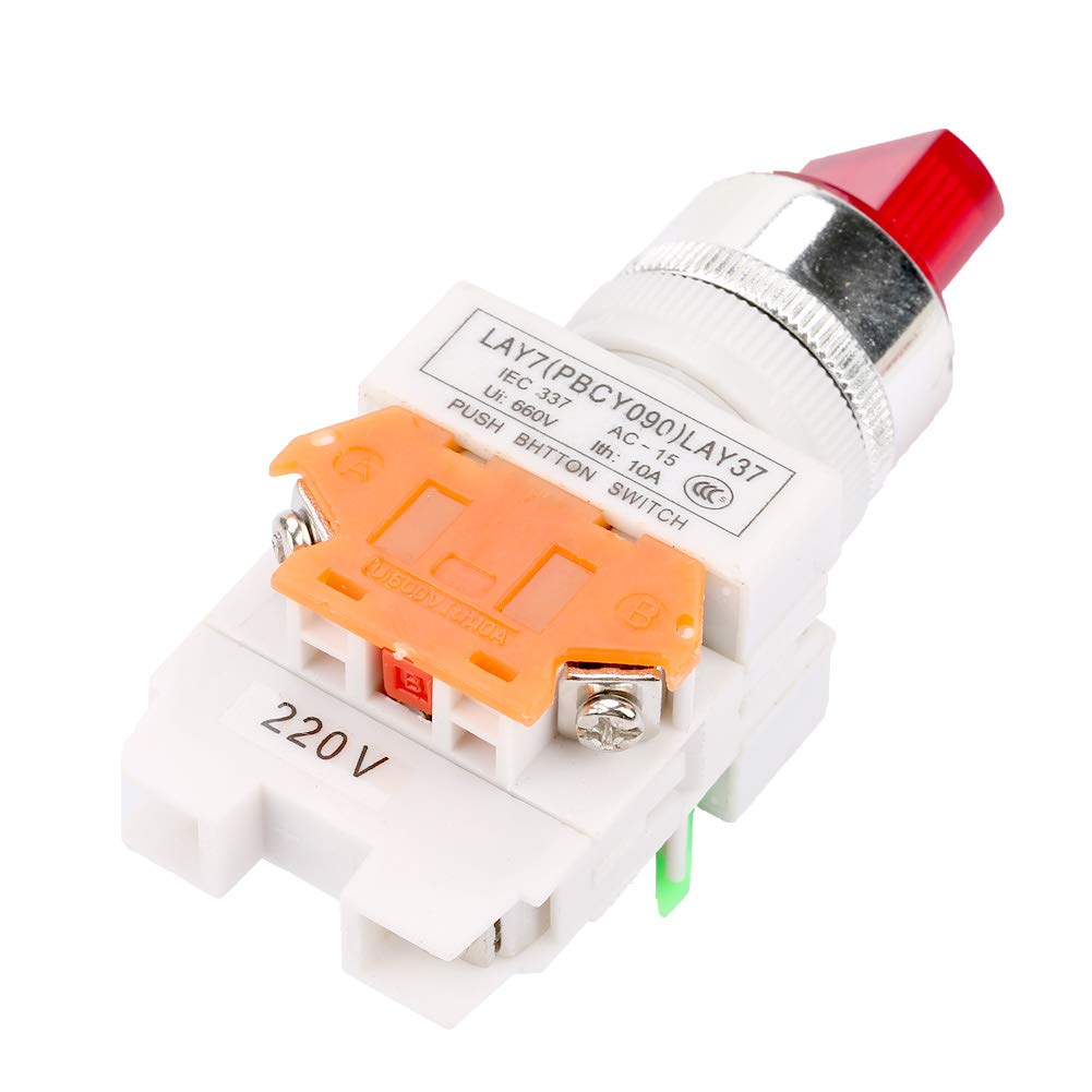 LAY37-11XD//2 Rotary Switch Red 2 Position Maintained Selector with LED