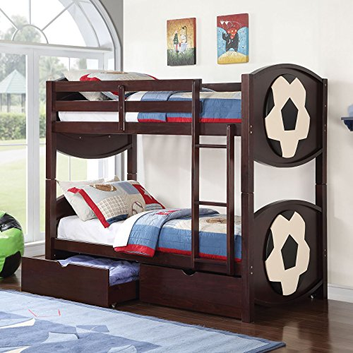 Major-Q Soccer Star Twin Bunk Bed by Major-Q