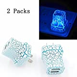 SN-RIGGOR 2 Packs LED USB Quick Charger 2A LED Glow Wall Charger Dual USB Power Adapter Travel Home Rapid Wall Charger for iPhone 7 6,6 plus/ Samsung Galaxy s7 S8,S6 - Night light Set of 2 (Blue)