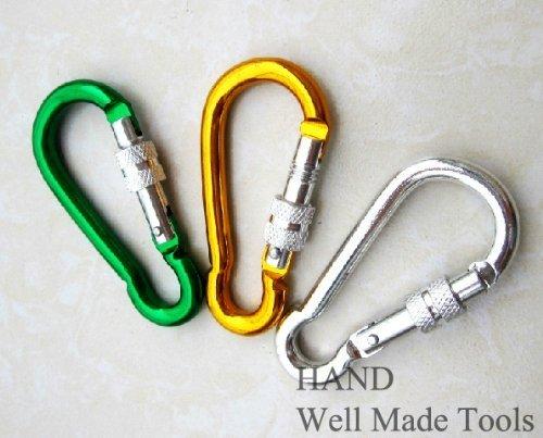 Set di 3 lega di alluminio Vite di bloccaggio moschettone Primavera Snap link Hook - 68 millimetri 2.7' Well Made Tools