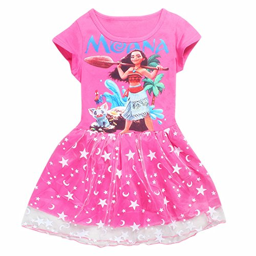 moana-little-girls-belle-printed-dress-princess-cartoon-party-costume-130-5-6ys-red