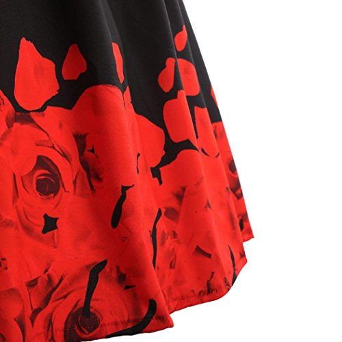 Vintage Hepburn Manche Fleurs 1950's imprime Courte dcontracte Grande soire de Robe Taille Audrey Cocktail HUHU833 rtro Iqxw0d1SI