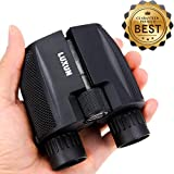 Compact Binoculars 10x25 - SGODDE Waterproof Binocular Weak Light Night Vision Folding High Powered Clear Binoculars Lightweight Bird Watching Binocular for Adults Kids Outdoor Shooting Travelling