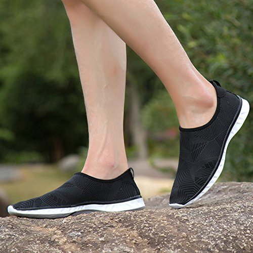 Unisex Sports Water Life Daily Shoes Quick Beach Walking Casual Shoes Swim Drying Sunjcs for Black Aqua Breathable q71dxq