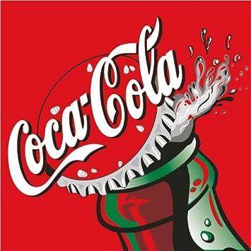 coca cola drink art logo car bumper sticker decal 10 x 10 cm amazon