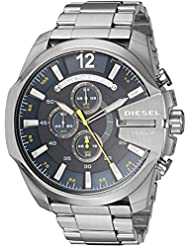 Diesel Mens Mega Chief Stainless-Steel Chronograph Watch DZ4465