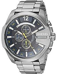 Men's Mega Chief Quartz Stainless Steel Chronograph Watch, Color: Silver-Tone (Model: DZ4465)