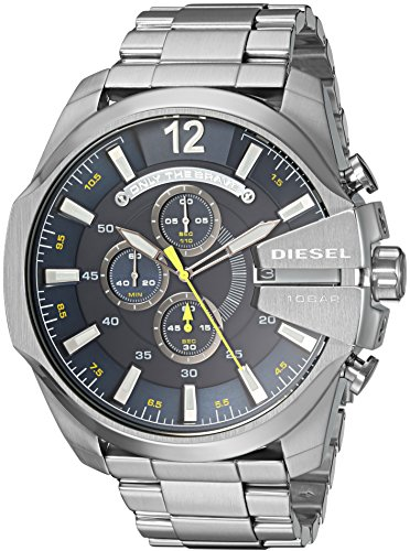 Chronograph Diesel Watch (Diesel Men's Mega Chief Quartz Stainless Steel Chronograph Watch, Color: Silver-Tone (Model: DZ4465))