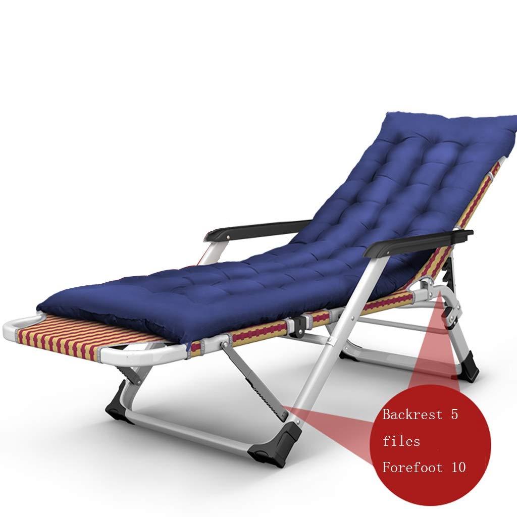 YY_C1 Chaise de Pause déjeuner Pliante, Chaise Longue, Chaise de Bureau Portable décontractée, lit Sieste, Fauteuil, Chaise de Plage, Coton épais