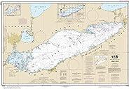 "NOAA Chart 14820 Lake Erie: 28.35"" X 40.91"" Lam"