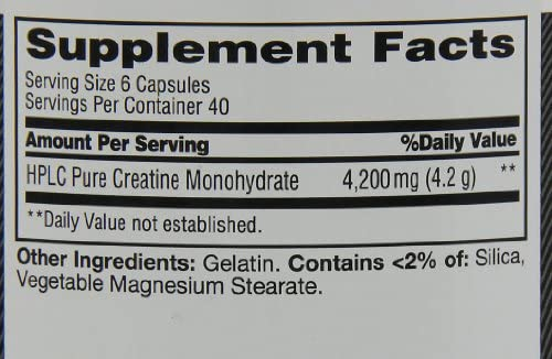 MET-Rx Creatine 4200 Supplement, Supports Muscles Pre and Post Workout, 240 Capsules 7