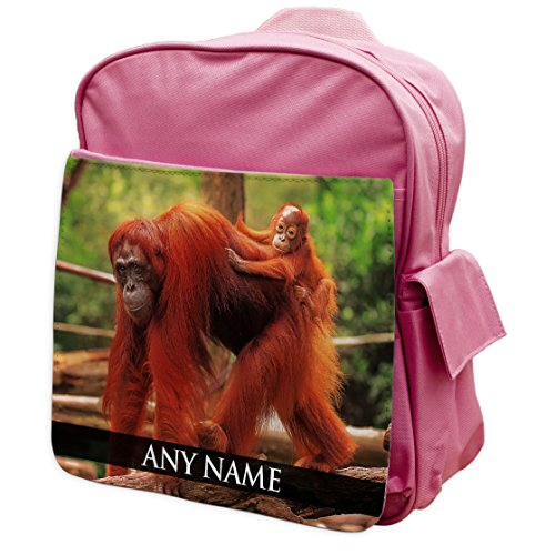 personalisierbar Orang-Utan Animal Pink Rucksack Rucksack 213