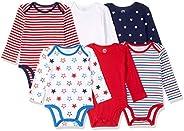 Amazon Essentials Baby 6-Pack Long-Sleeve Bodysuit,