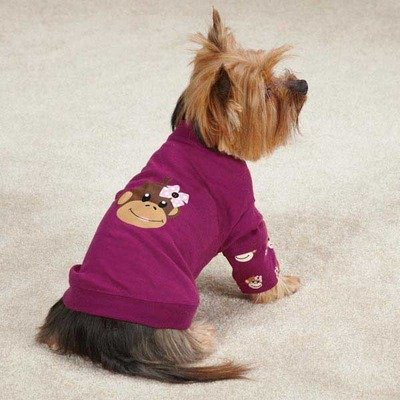 Monkey Business Mock Dog Tee Size: Large (20'' H x 13'' W x 0.25'' D), Style: Tiff by East Side Collection (Image #1)