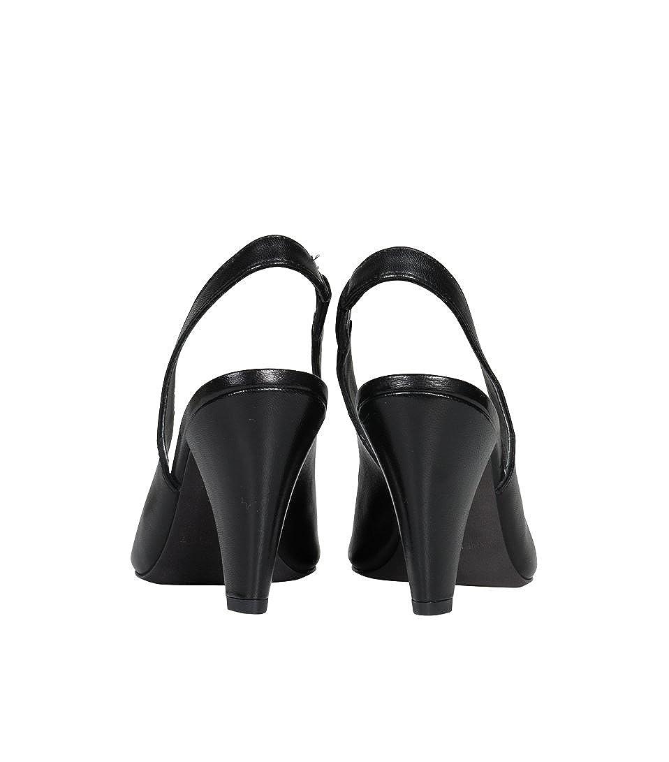 JANET Damen & JANET Damen JANET Absatzschuhe Lotus aus Lackleder schwarz 1a6799