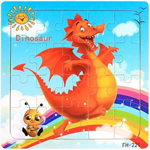 Coerni Christmas Gift for Kids - Developmental Wooden Jigsaw Puzzle Toy (H)