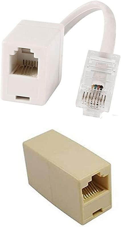 Amazon.com: RJ45 Ethernet Cable Connector(F-to-F Type) and RJ45 to RJ11  Adapter: Computers & AccessoriesAmazon.com
