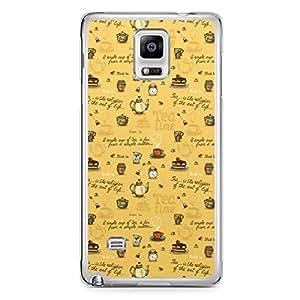 Tea Time Samsung Note 4 Transparent Edge Case - Design 2