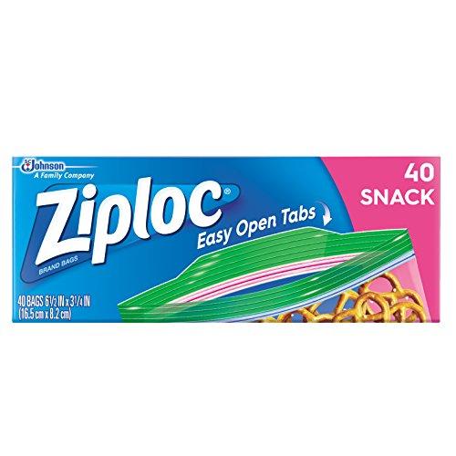 Ziploc Snack Bags, 40 Count