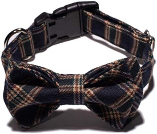 ALiYangYang Corbata de Lazo para Perro, Collar de celosía para ...