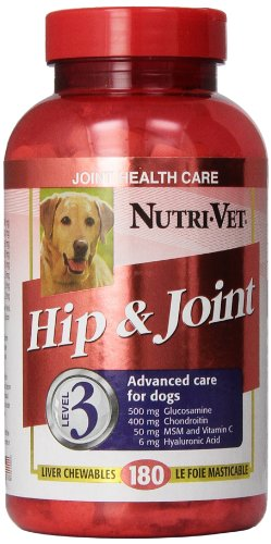 Nutri-Vet Hip and Joint Level 3 Chewable Tablet for Dogs, 180-Count
