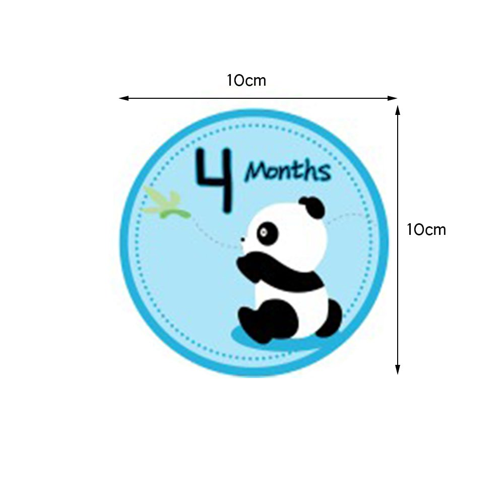 Baby Belly Stickers Baby Month Stickers Panda Baby Monthly Sticker First Year Stickers Months 1-12