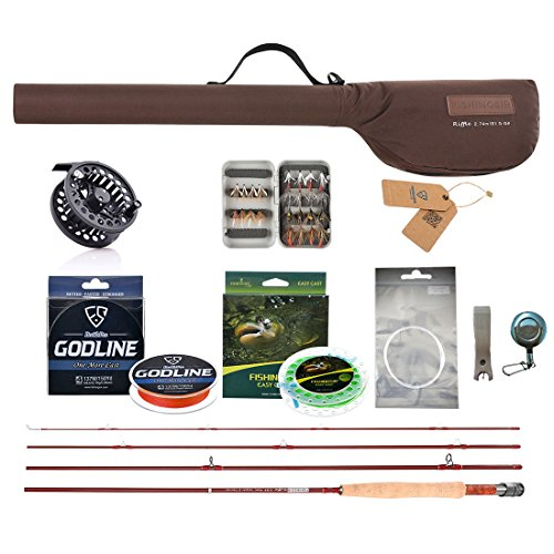 Fly Rod Outfit Trout - FISHINGSIR Fly Fishing Rod and Reel Combo for Trout Anglers Fly Fishing Outfit Complete Starter Full Kit