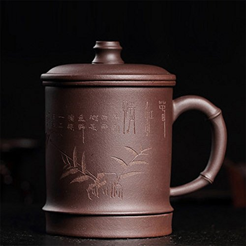 Chinese Handcraft Bone (XDOBO Yixing Zisha Handcraft Purple Clay Tea Cup Kung Fu Tea Cup, Simple Chinese Tea cup - 450ml Capacity)