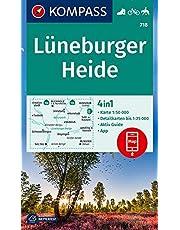 KOMPASS Wanderkarte Lüneburger Heide: 4in1 Wanderkarte 1:50000 mit Aktiv Guide und Detailkarten inklusive Karte zur offline Verwendung in der ... Reiten. (KOMPASS-Wanderkarten, Band 718)