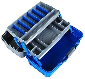 Flambeau Outdoors 6382 Classic 2-Tray Tackle Box, Blue Gray