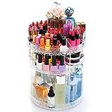 11 * 11 * 13.6 Inch Makeup Organizer 360 Degree Acrylic Rotating Storage Tower Rack Top Display,Transparent CA-QFJJSN-SF-1544 Choice Fun