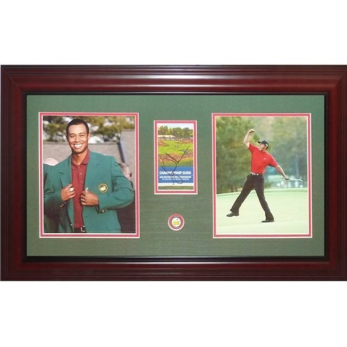 Tiger Woods Autographed Masters Champion Deluxe Framed Tribute Piece - JSA (Woods Masters Autographed Tiger)