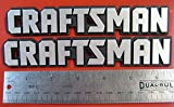 Set of 2 Sears Craftsman Tool Box Badge Large Size for Chest or Cabinet Emblem Decal Sticker Logo
