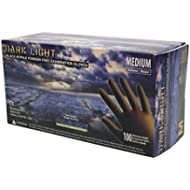 [Sponsored]Adenna DLG675 Dark Light 9 mil Nitrile Powder Free Exam Gloves (Black, Medium) Box of 100