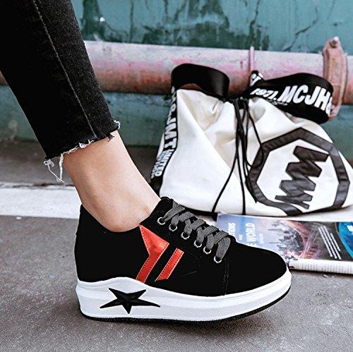 AJUNR Modische/Arbeit/Sandaletten Damenschuhe Damenschuhe Modische/Arbeit/Sandaletten Einzelne Schuhe Casual Dick Biskuit die Riemen schwarz b3de83