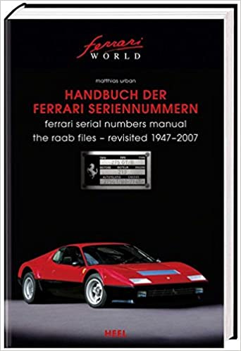 Buy Ferrari Serial Numbers Book Online At Low Prices In India