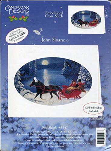 Christmas Card Embellished Cross Stitch Kit ()