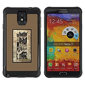 Pulsar Defender Series Tpu silicona Carcasa Funda Case para SAMSUNG Galaxy Note 3 III / N9000 / N9005 , Hatin Bad