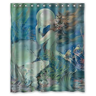 Welcome!Waterproof Decorative Vintage Vintage Mermaid Art Shower Curtain 60 *72 -23