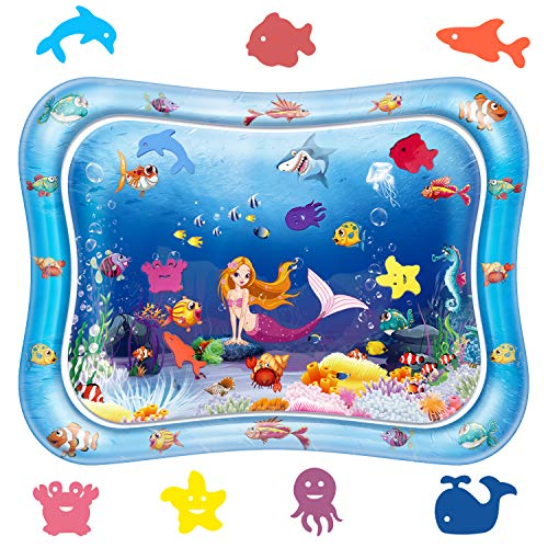 [2019 New] YAHO Large Inflatable Tummy Time Water Play Mat Infants & Toddlers is The Perfect Fun Time, Early Development Activity Center Your Baby's Stimulation Growth - 26 inch
